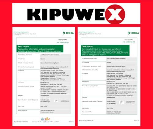 Kipuwex type approval is progressing well